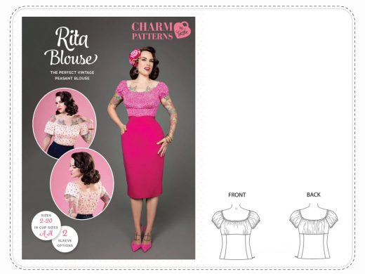 Rita Blouse Charm Patterns
