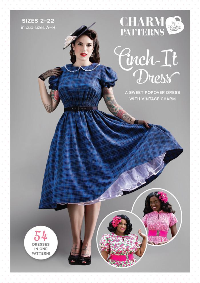Cinch It Dress Charm Patterns by Gertie Hirsch