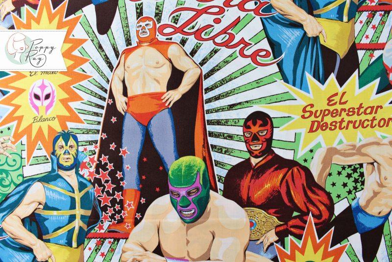 Alexander Henry Stoff Mexiko Lucha Libre