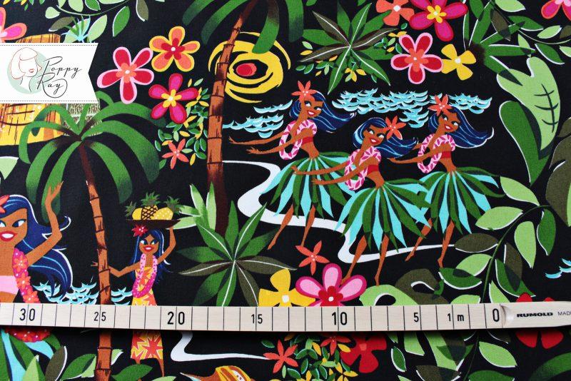 Alexander Henry Stoff Tiki Tänzerinnen Vintage