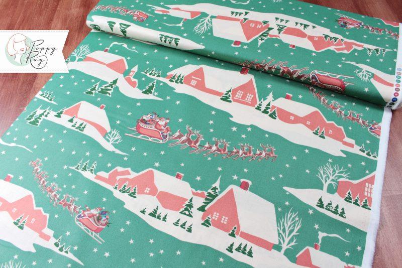 Alexander Henry Christmas Time Weihnachten Baumwolle Stoff Vintage