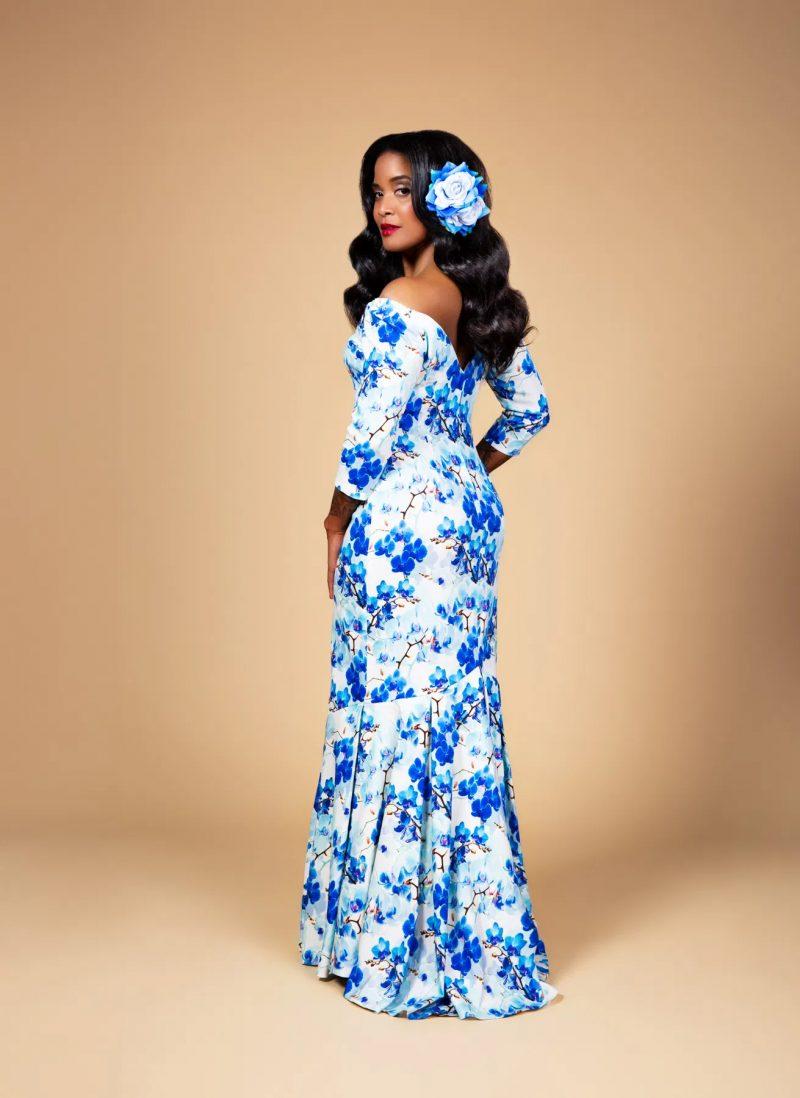 Charm Pattern Bryant Gown Vintage Kleid